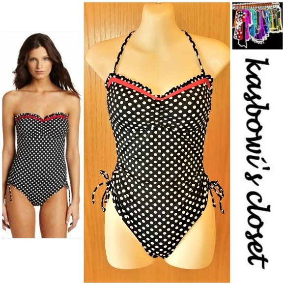 Kenneth Cole Reaction Other - KENNETH COLE REACTION B&W Dot One Piece SZ S (4-6)